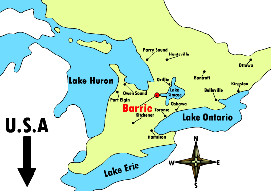 Map Of Barrie Canada Map   Barrie